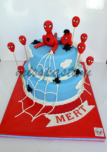 Spider man cake by MİSSPASTAM