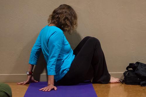 Preparing for Legs Up The Wall (Viparita Karani)