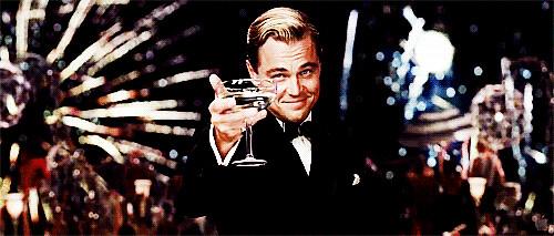 Leo DiCaprio great gatsby raising glass gif   Flickr ...