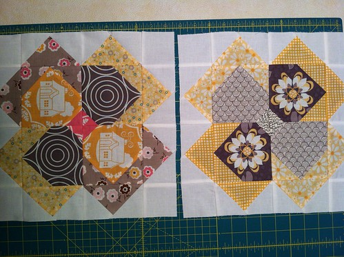 Flower Patch QAL blocks 1 & 2