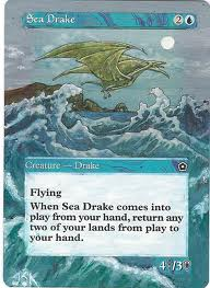 Sea Drake Altered Art Magic the Gathering art mtg card artwork Portal MTG Portal Magic cards Sea Stompy Deck Rebecca Guay