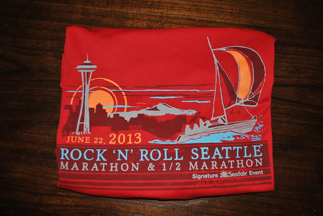 Rock and Roll 2013 Seattle Race Shirt