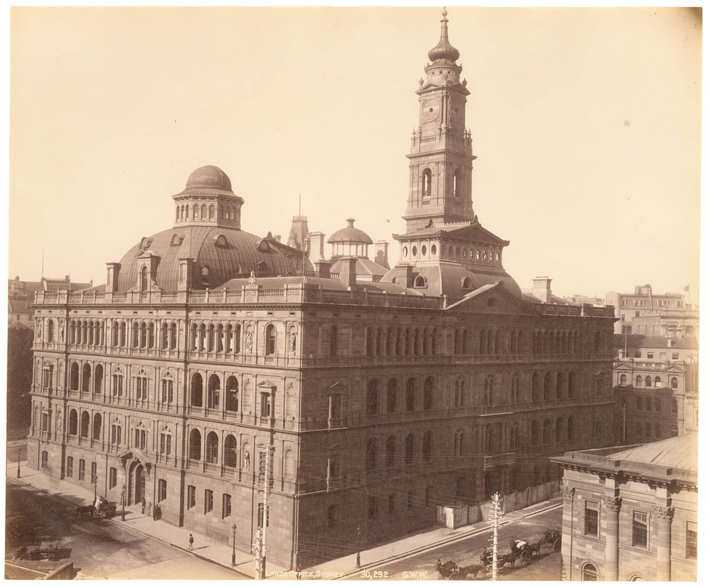 Lands Office, Sydney, from Fred Hardie - Photographs of Sydney, Newcastle, New South Wales and Aboriginals for George Washington Wilson & Co., 1892-1893
