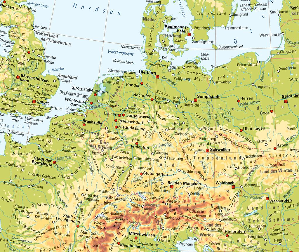 """Karte mit einer """"Übersetzung"""" der Namen"""