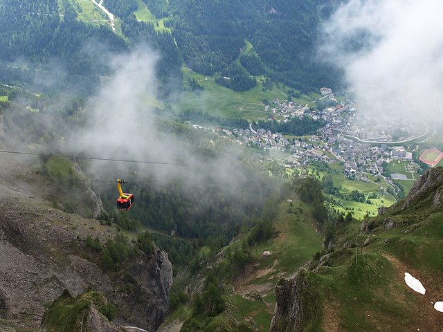 Gemmi cable car, Valaise, Switzerland