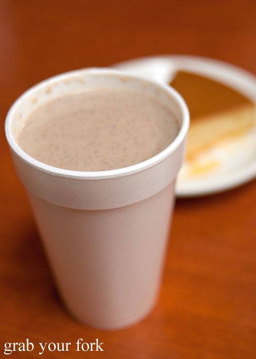 champurrado mexican hot chocolate at tamales lilianas restaurante mexican in east los angeles