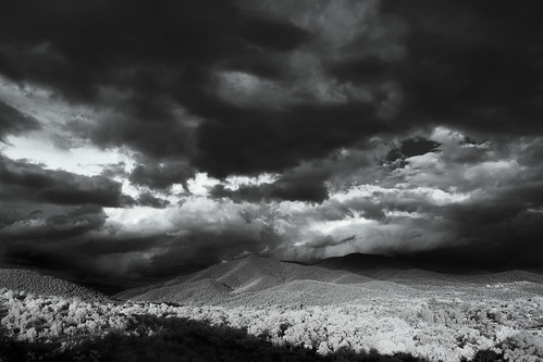 light sky blackandwhite bw usa mountain storm mountains newmexico santafe nature june clouds landscape ir photography us photo moody photographer unitedstates image fav50 unitedstatesofamerica fav20 hills photograph infrared 100 24mm nm fav30 f71 fav10 fav100 2013 fav40 fav60 santafecounty fav90 fav80 fav70 tse24mmf35l ¹⁄₂₅sec mabrycampbell june302013 20130630img0076