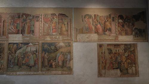 DSCN3323 _ Sette scene dalla vita di Giuseppe (top), Jacopo del Biondo (q) - Maestro del Pozzo, 15th C