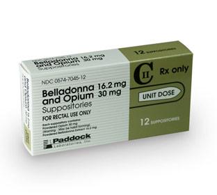 opium belladonna suppositories 30mg/16.2mg