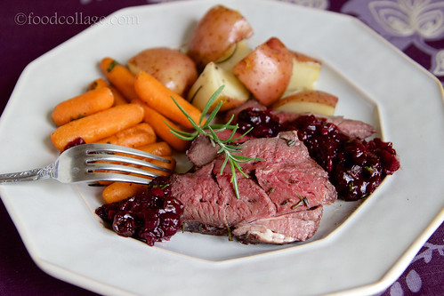 Venison Roast with Spiced Blueberry Chutney