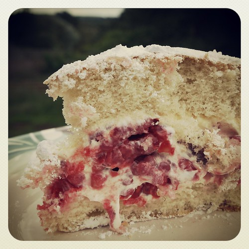 raspberry cream angel cake