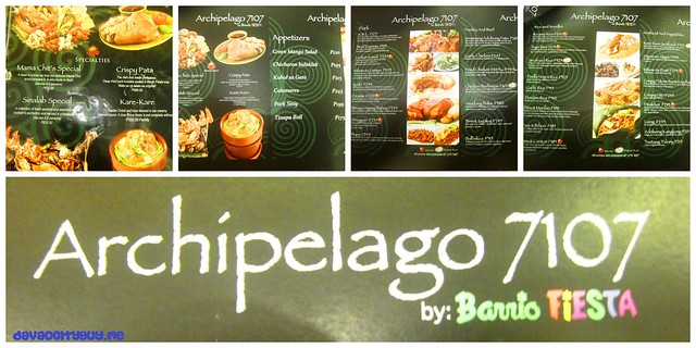 Archipelago 7107 a filipino feast davao city guy for 7107 flavours philippine cuisine