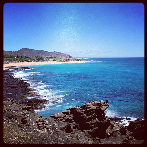 Sandy Beach: View Of Sandy Beach #honolulu #oahu #hawaii
