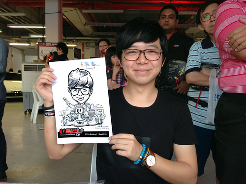 caricature live sketching for NTUC U Grand Prix Experience 2013 - 11