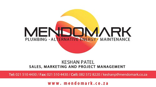 MendoMark Plumbing Business Card