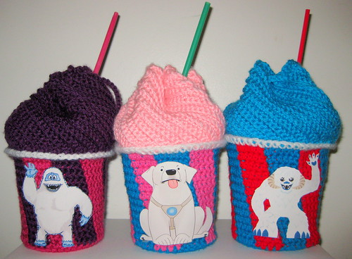 Crocheted Slushee Bags