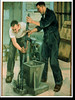 Painting by John Hull depicting a pour for explosives components