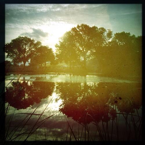 morning lake water sunrise square calm squareformat serene antioch hollingsworth contraloma hipstamatic buckhorsth1lens oggl w40film
