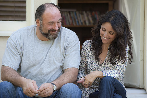 James Gandolfini and Julia Louis-Dreyfus are an unlikely pair in ENOUGH SAID.