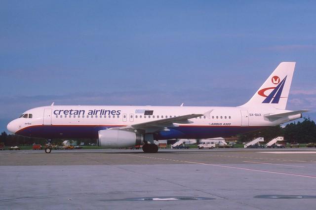 Cretan Airlines Airbus A320-231; SX-BAX, May 1995