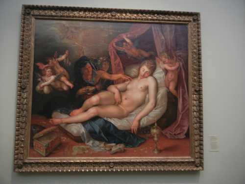 DSCN7999 _ The Sleeping Danae Being Prepared to Receive Jupiter, 1603, Hendrik Goltzius (1558-1617), LACMA