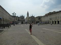 Trish at Piazza San Carlo