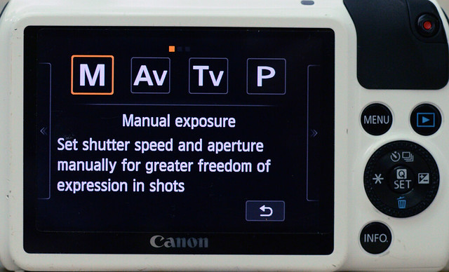 Settings of Canon EOS M for pinhole photography 2/4