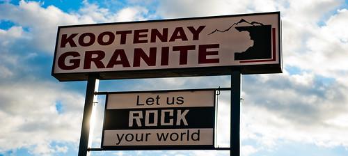 Kootenay Granite Sign