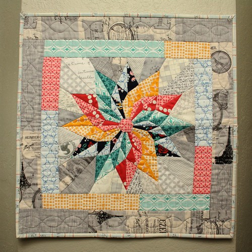 Beautiful miniquilt from Ginny