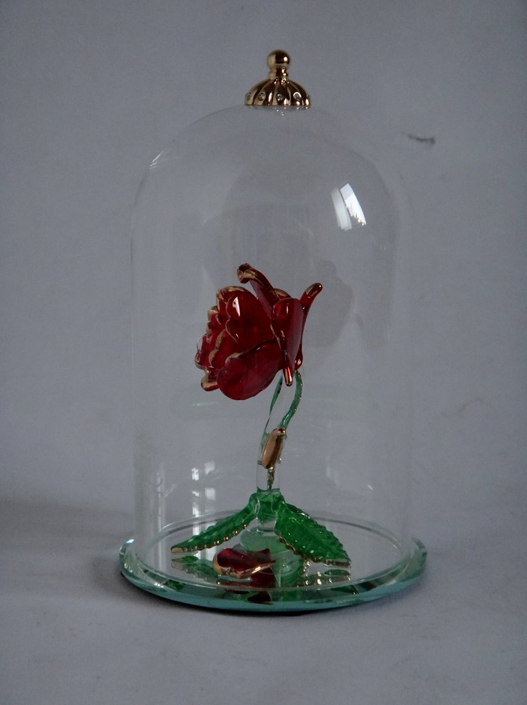 Beauty And The Beast Enchanted Rose Glass Sculpture By Arr Flickr