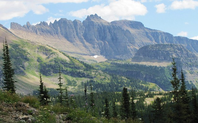 Garden Wall And Haystack Butte From Granite Park Trail Glacier National Park Flickr Photo