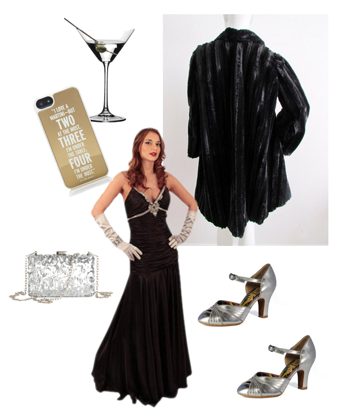 the-thin-man, movie, film, New-year's-eve, NYE, evening-gown, faux-fur, fur-coat, martini,fox-terrier,