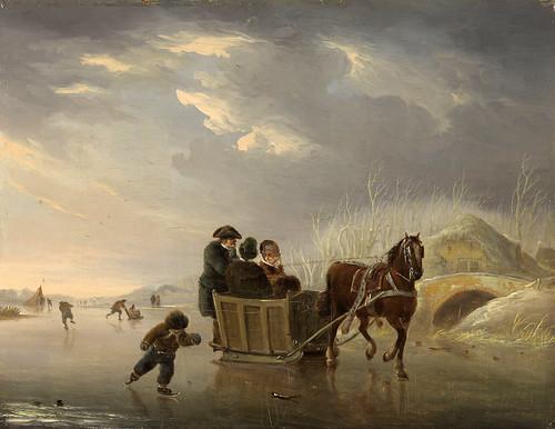011-Velocidad sobre el hielo, Andries Vermeulen, 1790 - 1814-Rijkmuseum
