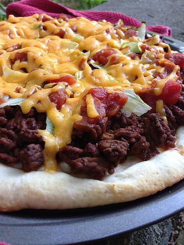OEP - Quick Taco Pizza - close-up