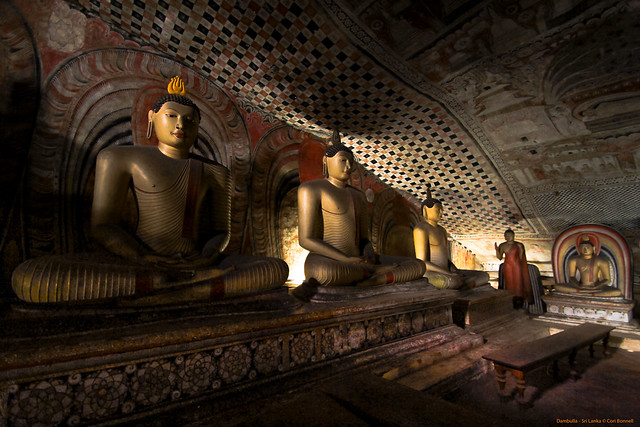 Inside the Dambulla Buddha Caves - Central Sri Lanka