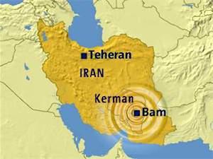 Mapa de situación de Bam (Irán)