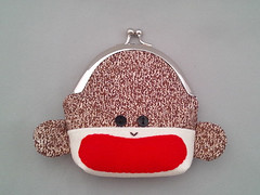 Sock Monkey Frame Purse