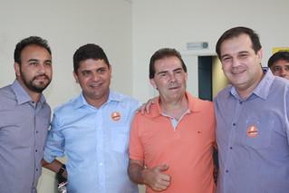 Da esquerda para a direita Alexandre Pereira; vereador Dé Alvim (São Carlos); o deputado federal Paulinho da Força; o secretário de Cidadania e Movimentos Sociais e vereador licenciado, Valdecir Duzzi.