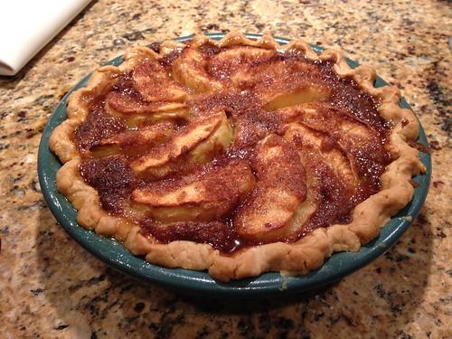Pie experiment: Sea salt caramel apple custard