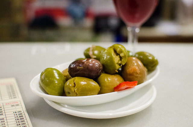 Marinated olives are a great start to a tapas tasting at Las Teresas in Sevilla.