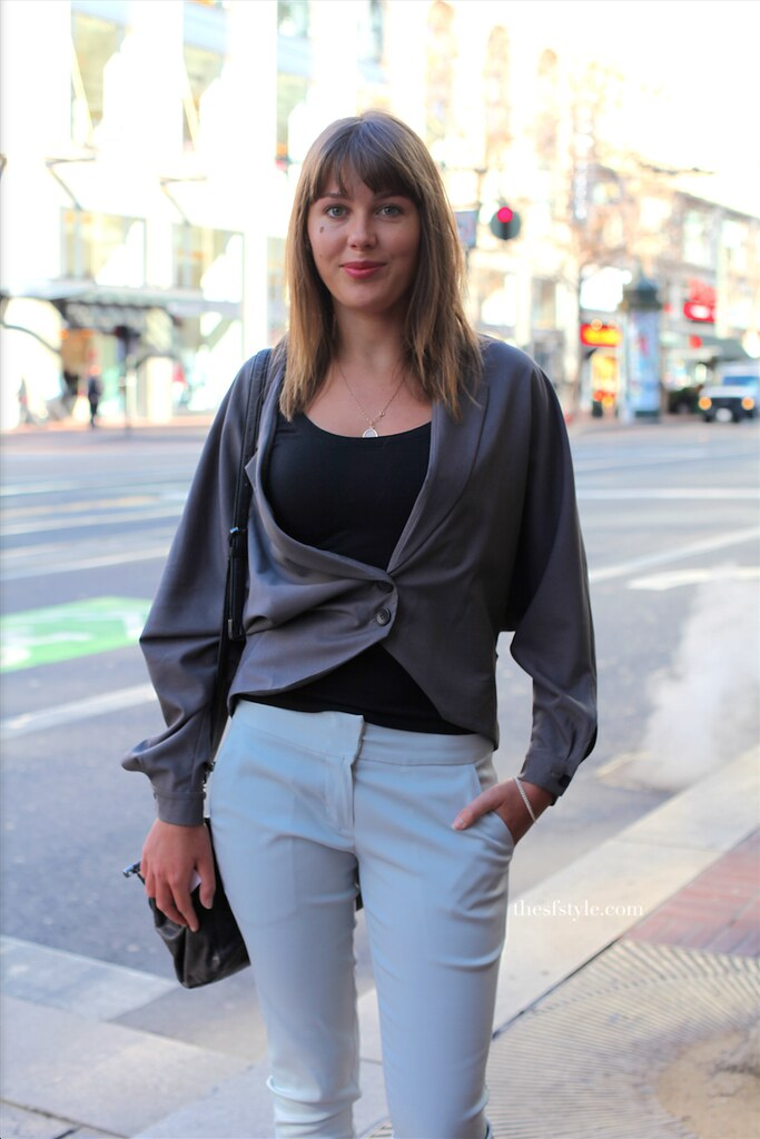 drape sleeve jacket, san francisco streetstyle fashion blog,