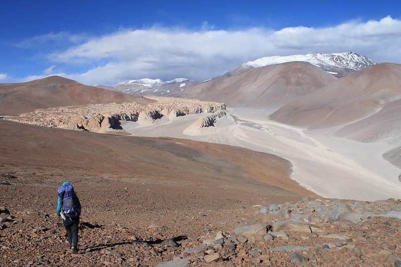 Descending to the bikes, near the base of Bonete