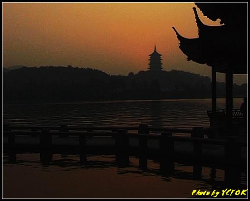 杭州 西湖 (其他景點) - 568 (西湖十景之 柳浪聞鶯 在這裡看 西湖十景的雷峰夕照 (雷峰塔日落景致)