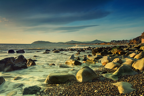 light sky mountains water clouds sunrise canon coast colours 7d wicklow dalkey greystonescameraclub