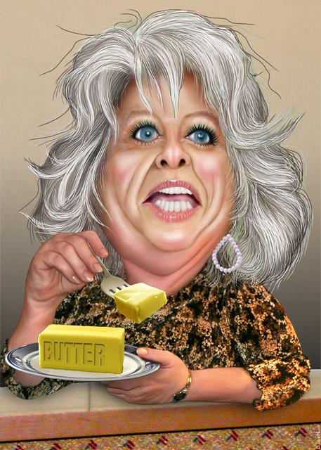 Paula Deen - Caricature