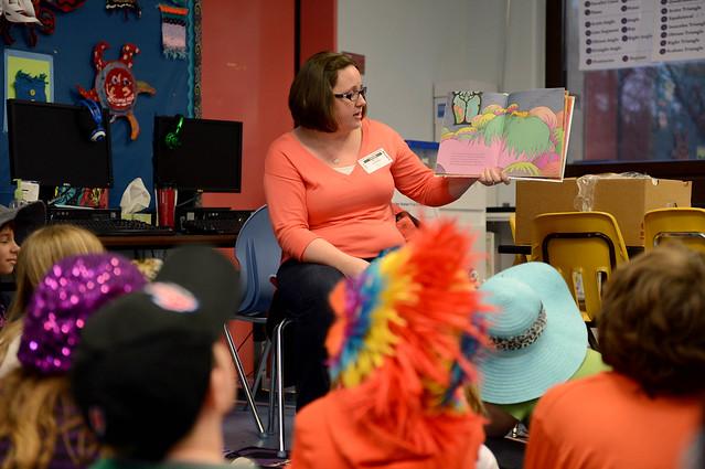 Sabers read to Spangdahlem Elementary School
