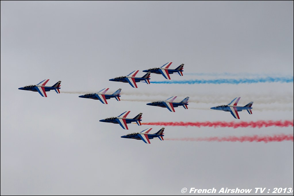Patrouille de France,Salon du Bourget 2013,Paris Airshow 2013