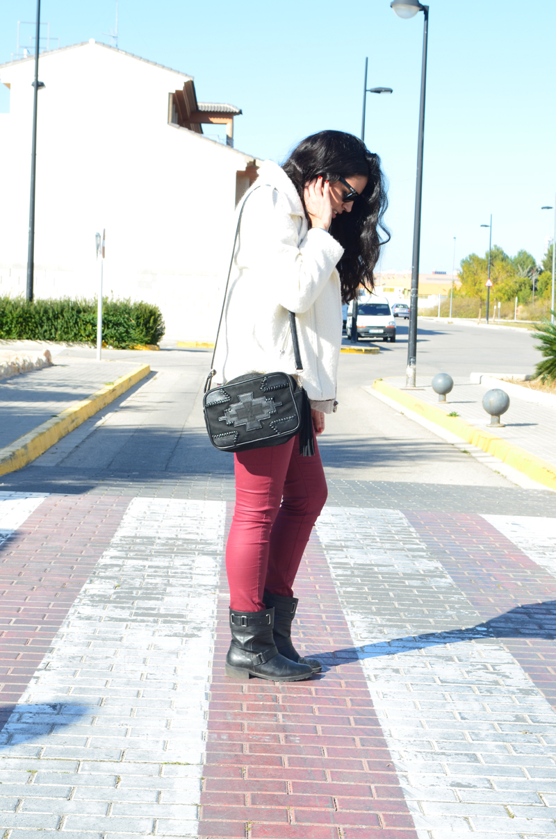 florenciablog total look burgundy inspiration burgundy look granate fieltro jacket cream jacket gandia españa bloggers (7)