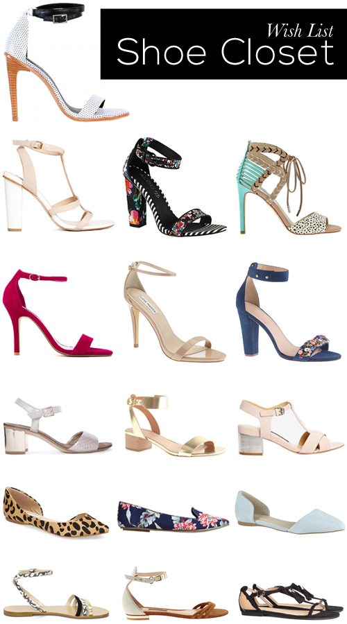 wish list shoe closet