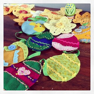 Easter-ish-ness crafting I've hoarded from last year!